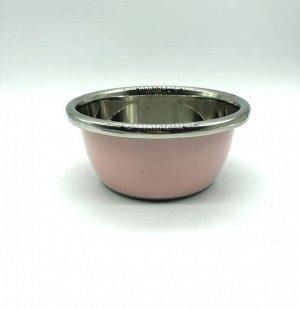 Миска из нержавеющей стали с цветным покрытием диаметр 20 см