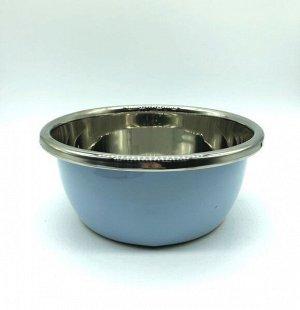 Миска из нержавеющей стали с цветным покрытием диаметр 26 см
