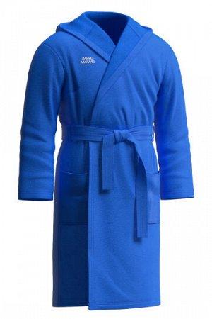 Синий Состав: Микрофибра - 100% Халат Cuddly с капюшоном, двумя карманами и поясом изготовлен из качественного и приятного к телу материала – микрофибры. Данный материал уникален тем, что не оставляет