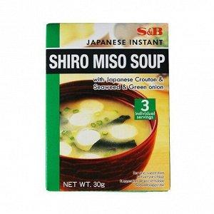 Суп S&B широ-мисо быстрого приготовления 3 порции, 30г, к/к,