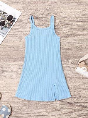Трикотажное платье с разрезом для девочек