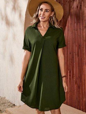 Платье-футболка в рубчик