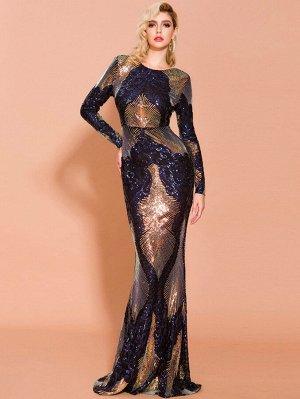 Missord облегающее контрастное платье с блестками