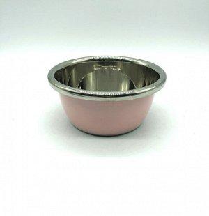Миска из нержавеющей стали с цветным покрытием диаметр 18 см