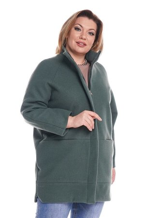 Пальто на молнии однотонное мята