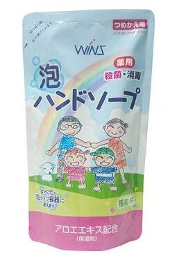 Жидкое мыло для рук с восстанавливающим эффектом и экстрактом алоэ Wins, Nihon Sekken (мягкая упаковка) 200 мл