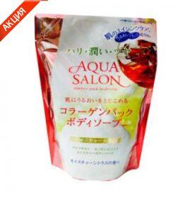 """Roland """"Aqua Salon"""" Бессиликоновый гель для душа с эффектом коллагеновой маски и аминокислотами 380мл"""