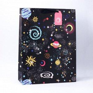 """Подарочный пакет(S) """"Lot stars"""", black"""