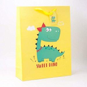 """Подарочный пакет(S) """"Dino"""", yellow"""