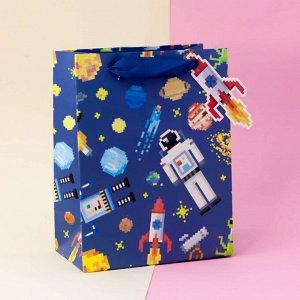 """Подарочный пакет(L) """"Pixel"""" Rocket"""