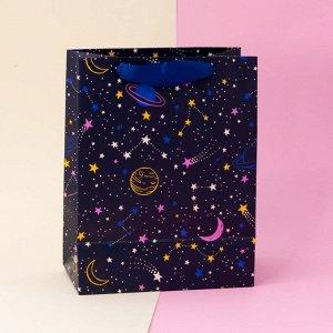 """Подарочный пакет(M) """"Universe"""", blue"""