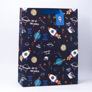 """Подарочный пакет(S) """"Lot rocket"""", black"""