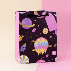"Подарочный пакет(S) ""Sweet space"" Planets, rockets"