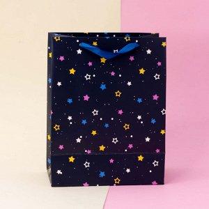 """Подарочный пакет(M) """"Universe star"""", blue"""