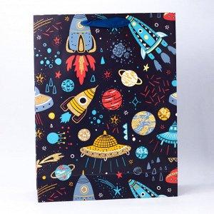 """Подарочный пакет(L) """"Lot ufo"""", black"""