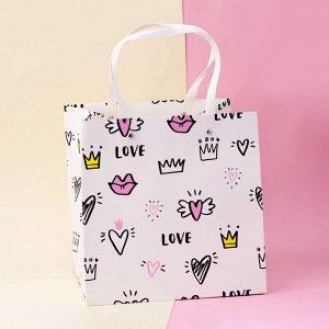 "Подарочный пакет(M) ""Tag"" Love"