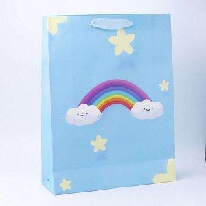 """Подарочный пакет(L) """"Cloud"""", blue"""