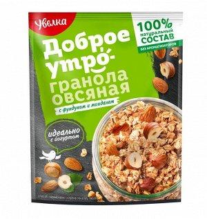Увелка Гранола овсяная с фунд/миндалем 40г 1/20
