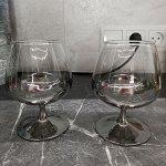 """Набор 3 бокалов для бренди Glasstar Эталон """"Графитовый Омбре"""" / 410 мл"""