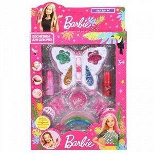 """Косметика для девочек """"Милая леди"""" Барби (тени,блеск для губ,помада,заколки),кор 16*3*25 см"""
