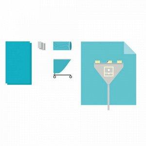 Комплект белья одноразовый хирургический для артроскопии коленного сустава КБО-7.2 ГЕКСА стерильный 5 предметов