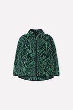 Куртка(Осень-Зима)+boys (черный, ярко-зеленые волны)