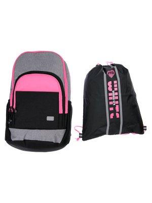 Комплект для девочек: рюкзак, сумка для обуви