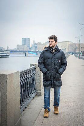 Зимняя мужская куртка с мехом