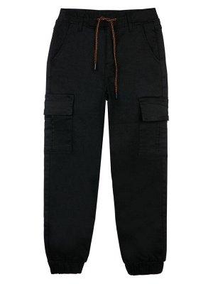 Брюки текстильные джинсовые утепленные флисом для мальчиков