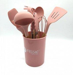 Набор кухонных принадлежностей FESSLE, 10 предметов, розовый