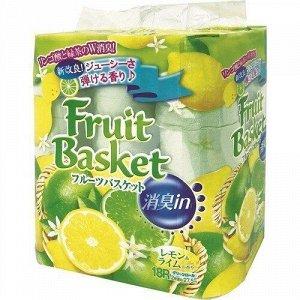 """Бумага туалетная Marutomi """"Fruit Basket"""" лимон-лайм 2-х слойная, 27,5м х 0,114м,18 рул/уп"""