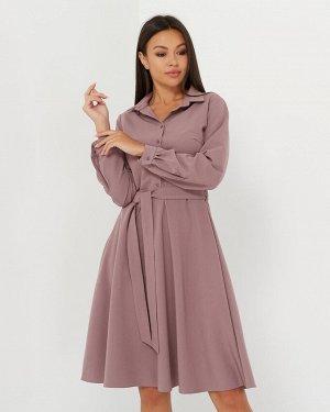 Платье-рубашка короткая, лиловый