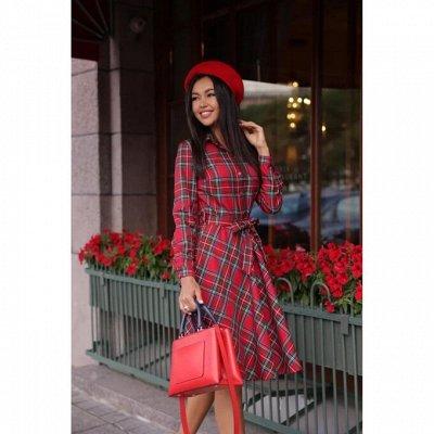 Разве может настоящая женщина не купить новое платье? — Платье-рубашка клетка короткие