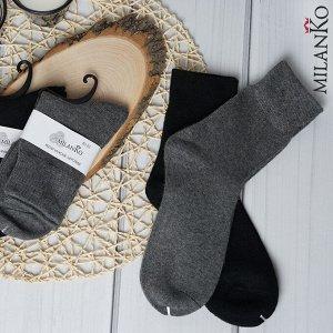 Мужские шерстяные носки однотонные MilanKo N-413