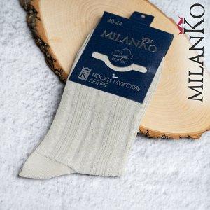 Мужские носки летние с выбитым рисунком (Узор 2) MilanKo N-180