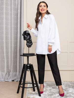 Блуза Поплин (97% хлопок; 3% эластан) Задать вопрос о модели Комментарий стилиста Ультра-популярная модель объемной белой блузы. Хлопковая ткань, актуальные линии и лаконичный дизайн – нечего добавить
