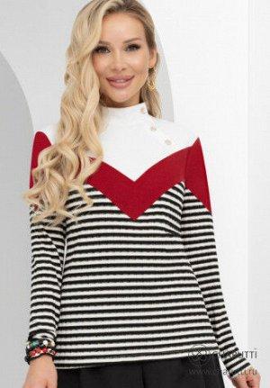 Блуза Состав трикотаж «лапша», «кора» (65% п/э, 30% вискоза, 4% эласт, 1% мет. нить) Задать вопрос о модели Комментарий стилиста Европейский шик – это сочетания и стиль, элегантность и комфорт. Пример