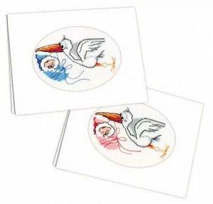 Набор для вышивания РИОЛИС 995 С рождением ребенка, 11,8*16,4 см