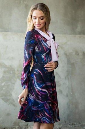 Платье Материал: NIAGARA. Состав: 56% полиэстер, 44% вискоза.  Длина от талии до низа юбки 58 см. Длина рукава: 61 см.
