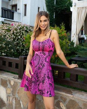 Платье Bona Fide: Cuty Cute Dress Cobra Fuchsia