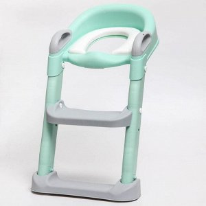 Детское сиденье на унитаз, цвет серый/зеленый