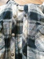 Женская рубашка в клетку Genuine MotorClothes – хитовый фасон с капюшоном, тесьмой на талии и кармашками на груди №1000