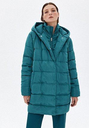 Куртка утеплённая стёганая, цвет тёмно-зелёный