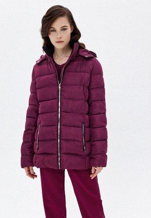 Куртка утеплённая стёганая, цвет сливовый