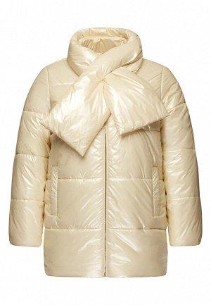 Куртка утеплённая стёганая, цвет бежевый