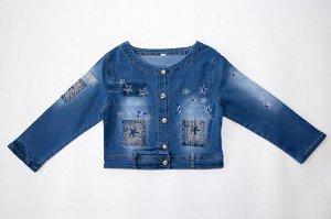 Куртка 133214-8 джинс для девочек