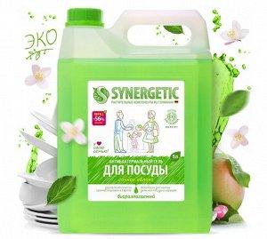 """Synergetic Средство для мытья посуды и детских игрушек 5 л """"Яблоко"""""""