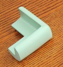 Набор защитных накладок на углы стола, 4 штуки, цвет светло-зеленый
