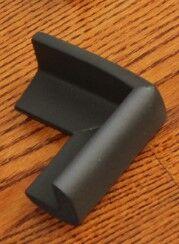 Набор защитных накладок на углы стола, 4 штуки, цвет черный