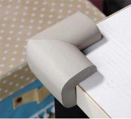 Набор защитных накладок на углы стола, 4 штуки, цвет серый